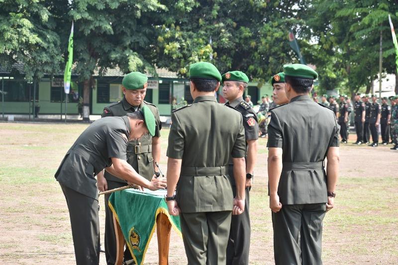 Suasana Serah Terima Jabatan Komandan Kodim 0815 Mojokerto