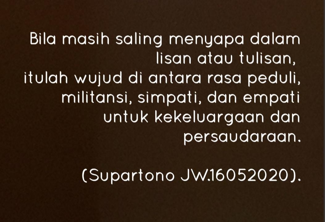Peduli Militansi Simpati Dan Empati Di Tengah Pandemi Analisa Www Indonesiana Id